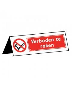 tafelbordje verboden te roken 15x5cm DRO34