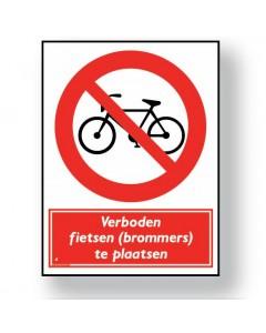verbodsbord verboden fietsen te plaatsen DRO41