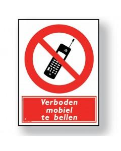 verbodsbord verboden mobiel te bellen DRO43