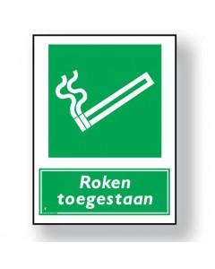 verbodsbord roken toegestaan DRO44