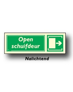 bord schuifdeur rechts nalichtend DHU16