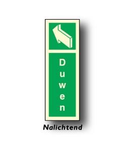 bord deur duwen links nalichtend DHU25