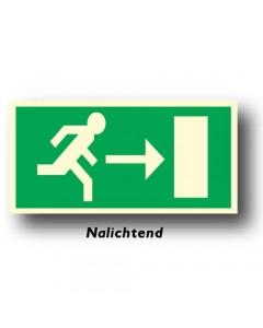bord uitgang rechts nalichtend NEN61