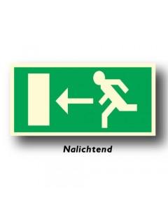 bord uitgang links nalichtend NEN62