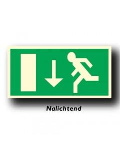 bord uitgang rechtdoor nalichtend NEN66