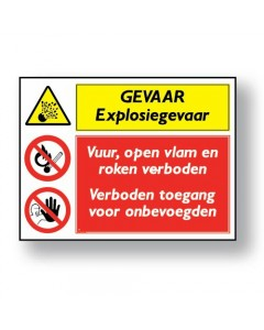 combinatie veiligheidsbord gevaar DCO04