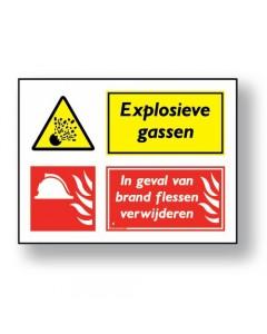 combinatie veiligheidsbord explosieve gassen DCO06