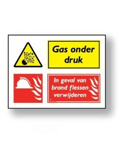 combinatie veiligheidsbord gas onder druk DCO07