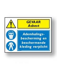 combinatie veiligheidsbord gevaar asbest DCO34
