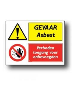 combinatie veiligheidsbord gevaar asbest DCO62