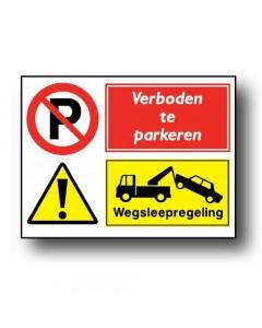 combinatie veiligheidsbord wegsleepregeling DCO64