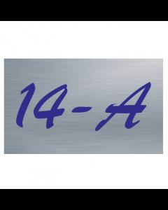 RVS geborsteld naambord of huisnummerbord T36 25x15cm