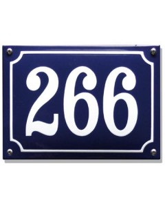 emaille huisnummer rechthoek gebold + kader