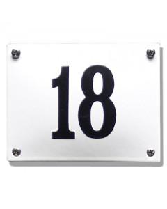 emaille huisnummer rechthoek gebold