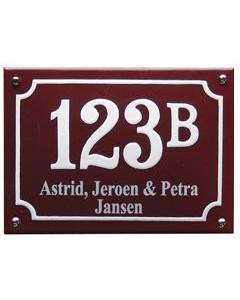 5134 emaille combinatie naambord rechthoek gebold + kader