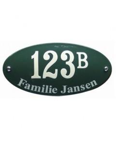 emaille combinatie naambord ovaal gebold 20x10cm HNG-01