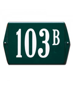 emaille huisnummer oor 16x12cm HO-34