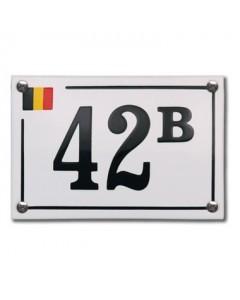 emaille huisnr. excl. design Baarle Hertog BE 10x10cm HE-60