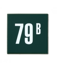 emaille huisnummer quadra 10x10cm HQ-01