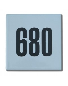 emaille huisnummer quadra 16x16cm HQ-02