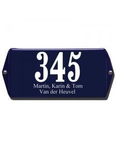 emaille huisnummer + naam oor 20x10cm HNO-36