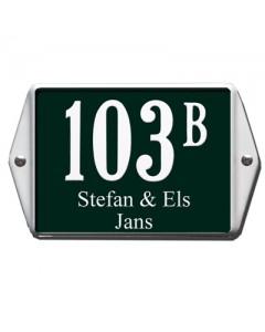 emaille huisnummer + naam oor 16x12cm HNO-35