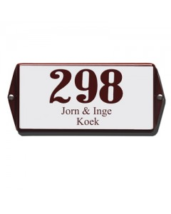 emaille huisnummer + naam oor 20x10cm HNO-37
