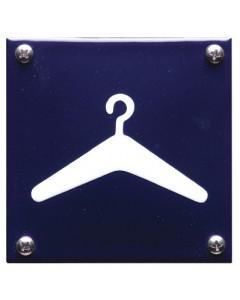 5302 emaille pictogram garderobe 10x10cm PG-02