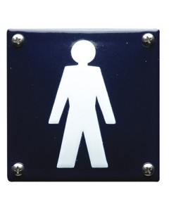 5306 emaille pictogram heren toilet 10x10cm PG-06