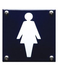 5307 emaille pictogram dames toilet 10x10cm PG-07