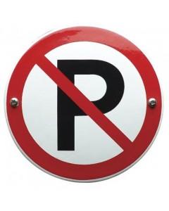 emaille verbodsbord niet parkeren VG-03