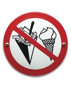 emaille verbodsbord geen voedingsmiddelen, patat en ijs VG-05