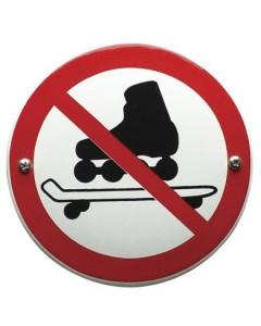 emaille verbodsbord niet skaten VG-06