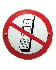 emaille verbodsbord mobiele telefoon uitschakelen VG-09