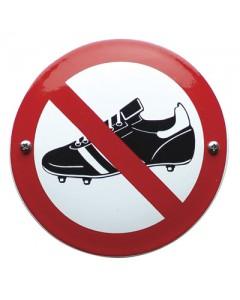 emaille verbodsbord geen voetbalschoenen VG-11