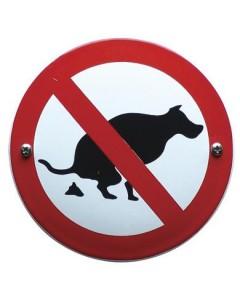 emaille verbodsbord geen honden poep VG-12