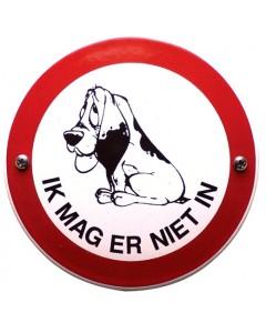 emaille verbodsbord hond: ik mag er niet in VG-15