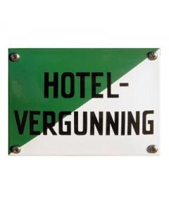 5407 emaille horecabord hotel-vergunning