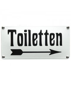 5424 emaille horecabord toiletten rechts NH-52
