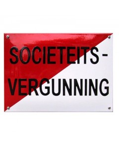 emaille horecabord societeits vergunning NH-49