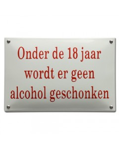 emaille horecabord geen alcohol onder 18 NH-75