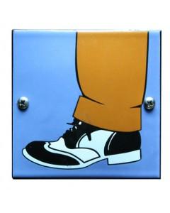 5621 Emaille toilet bordje herenschoen WC-77