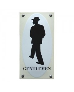 5611 Emaille toilet bordje gentleman WC-08