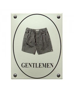 Emaille toilet bordje boxershort rond WC-10