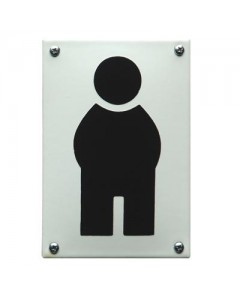 5619 Emaille toilet bordje man abstract WC-02