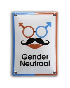 Emaille toilet bordje gender neutraal WC-93