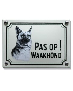 Emaille waakhond bordje Herdershond WHK-05