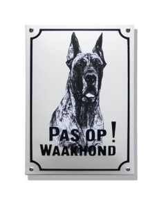 Emaille waakhond bord Deensedog WH-03