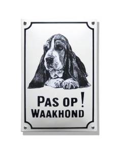 Emaille waakhond bord Hushpuppy WH-06