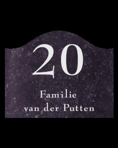 belgisch hardsteen naamplaat golvend 24x19cm